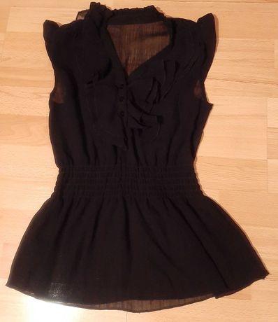 Czarna elegancka bluzka mgiełka