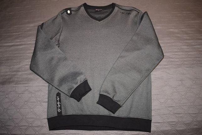 Свитер мужской реглан свитшот кофта лонгслив теплый черный как новый