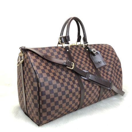Torba Louis Vuitton Keepall Bandouliėre 55 Damier /skóra naturalna