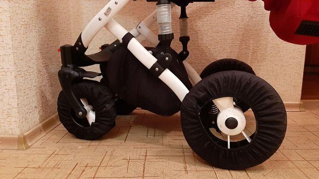 Чехлы на колеса коляски новые размер универсальный/чехол на колеса 4шт