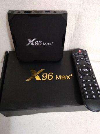 Приставка Android Tv СмартТВ X96MAX PLUS Tv-Box 4/32GB Android9