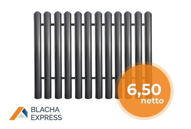 Sztachety metalowe na ogrodzenie 12,5cm PRODUCENT, zamówienia od ręki