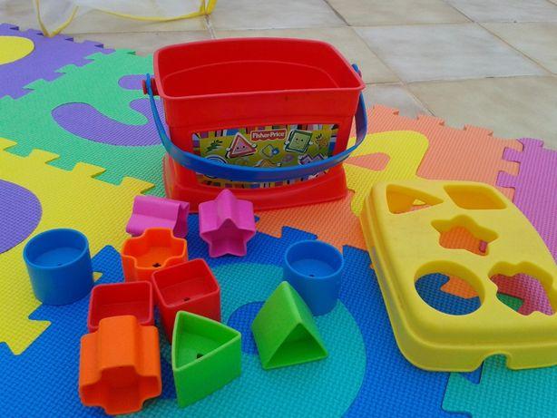 Brinquedo Formas c/Tapete Números