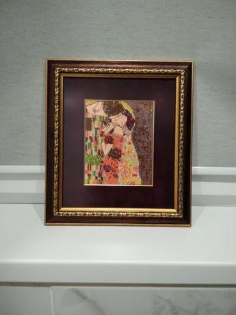 """Картина вышитая бисером """"Климт. Поцелуй."""""""