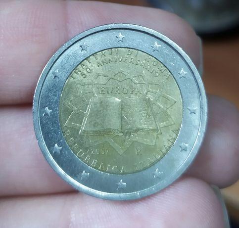 Монета €2 евро, 50-летие подписания Римскогодоговора