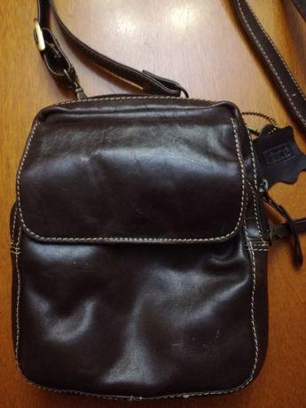 Męska torba torebka skórzana na ramię