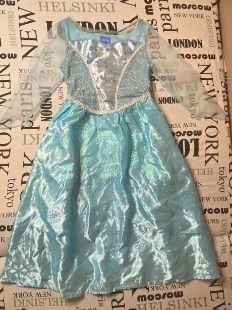 Светящиеся Платье Эльзы из холодного сердца 3-5 лет Отличное состояние