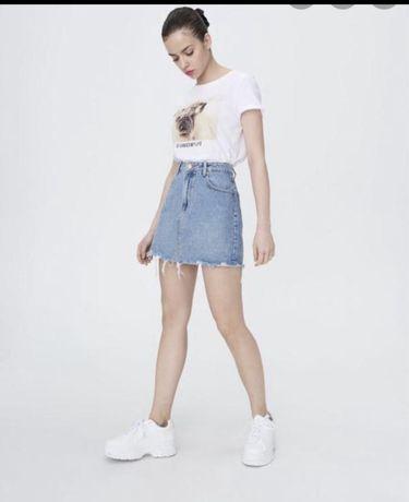 Джинсовая юбка sinsay