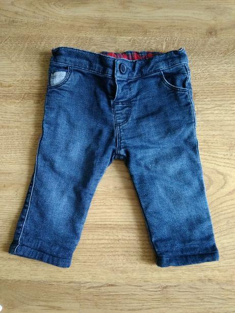 Spodnie jeansowe, rozmiar 0-3 miesiąca
