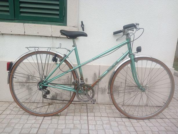 Bicicleta Motobecane mixte vintage verde roda 28 Tamanho 50