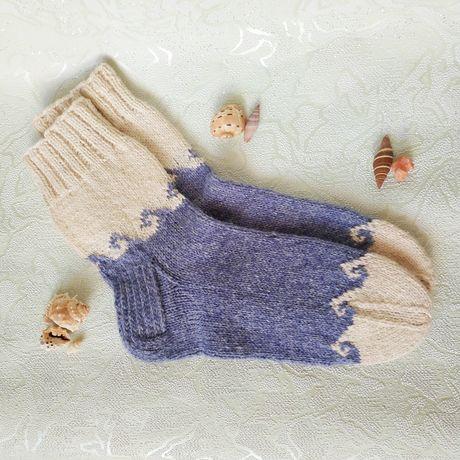 Вязаные шерстяные носки, шкарпетки, ручная работа, hand made