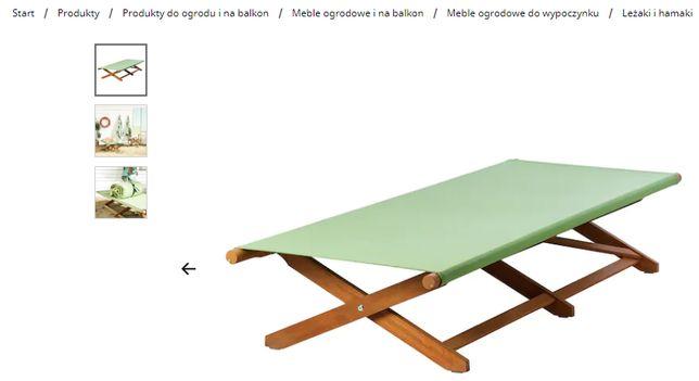 NOWY Leżak drewniany składany kanadyjka SOLBLEKT IKEA eukaliptus