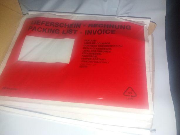 250 Envelopes Auto Adesivos Packing list Transparentes - C5 24x18 cm