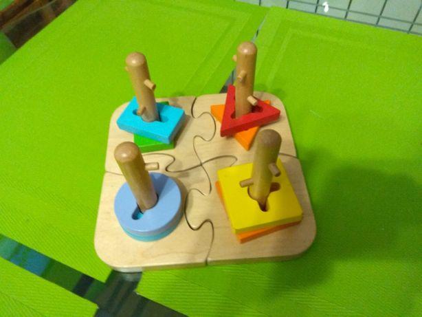 Maxxi drewniane puzzle