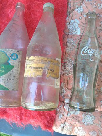Stare zabytkowye butelki PRL