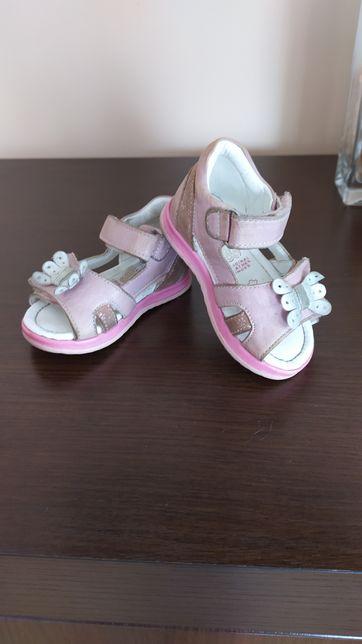 Sandałki że skóry różowe Lasocki rozmiar 19