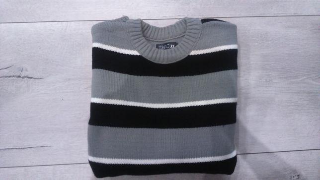 sweter męski gruby rozm. XL ubrany raz
