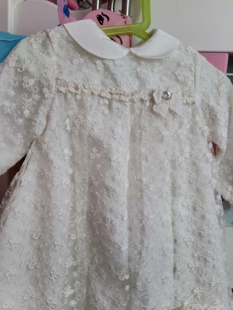sukienka do chrztu r.80