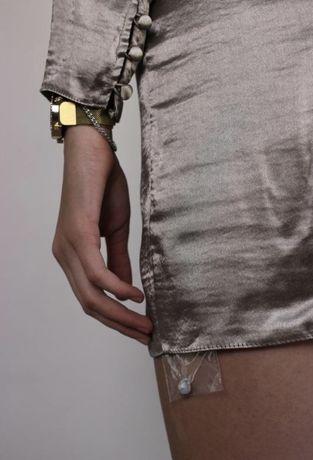 Платье асос на запах шелковое asos