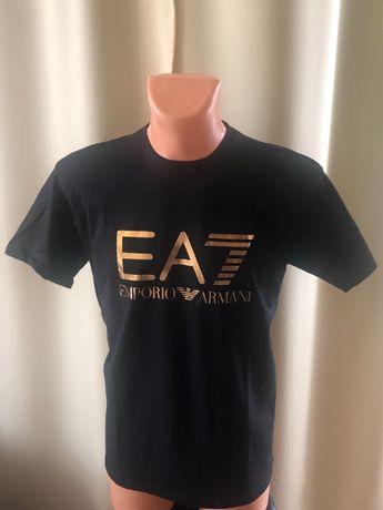 Armani t-shirt złote logo rozmiar S