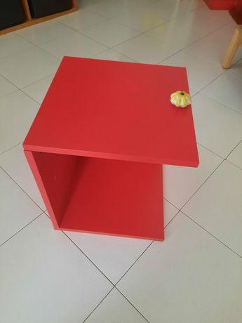 Ikea Kallax acessório c porta, vermelho 33x33cm