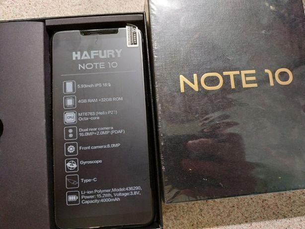 Hafury Note 10 4G 4/32Gb Black EU (записывает звонки)