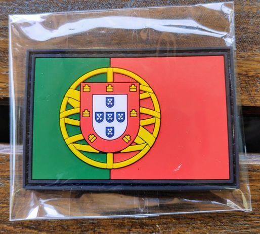 Emblema em borracha c/ velcro - bandeira de Portugal