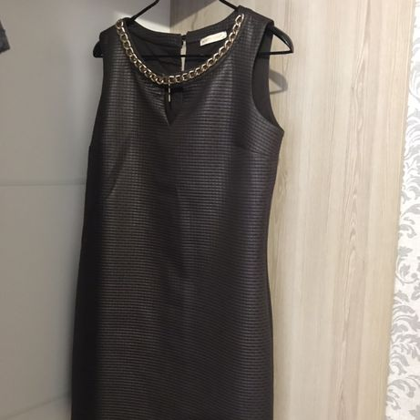 Платье ткань имитирует кожу