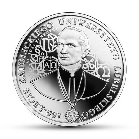 011. Moneta 10 złotych 100-lecie Katolickiego Uniwersytetu Lubelskiego
