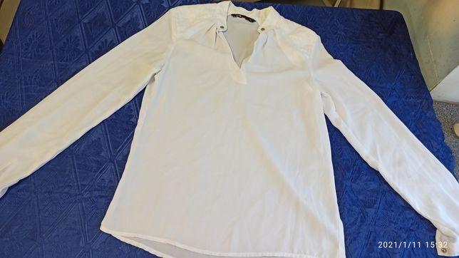 Рубашка белая женская с длинным рукавом Оджи 34 размер