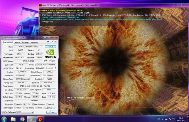 Игровая видеокарта Asus Strix Geforce GTX 960 4GB