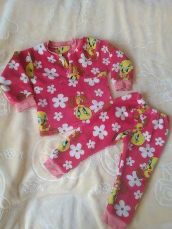 Тёплая пижама для девочки