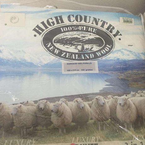 Edredon cama de Solteiro 100% pura lã virgem 2.18mt x 1.65mt NOVO