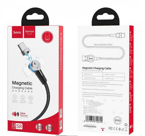 Магнитный Кабель Hoco S8 Type-C/Lightning/Micro USB (1.2m)