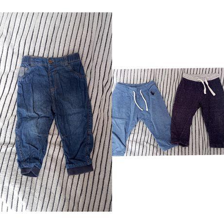 Spodnie, body, sweterki, bluzy, koszule r.80