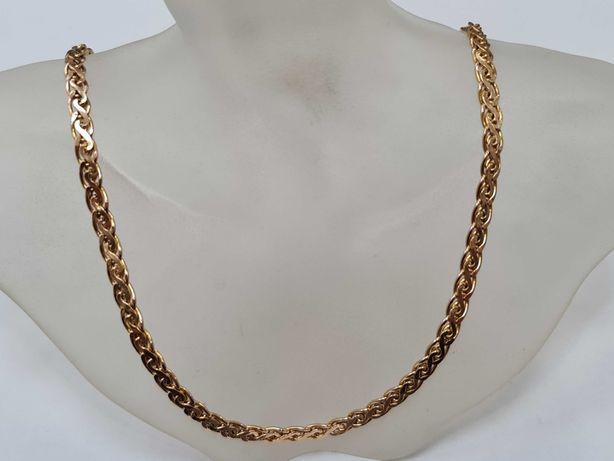 Piękny złoty łańcuszek damski / męski/ 585/ 12.68 gram/ 45cm