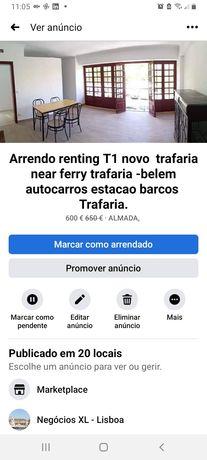 Arrendo renting T1 novo  trafaria near ferry trafaria -belem
