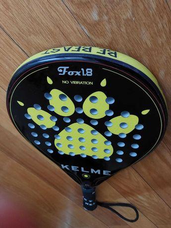 Raquete Padel Kelme FOX 1.8 amarillo