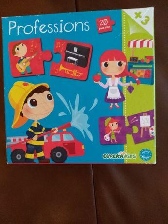 zabawka 20 puzli do róznych zawodów np strażak, wiek dziecka to 3+