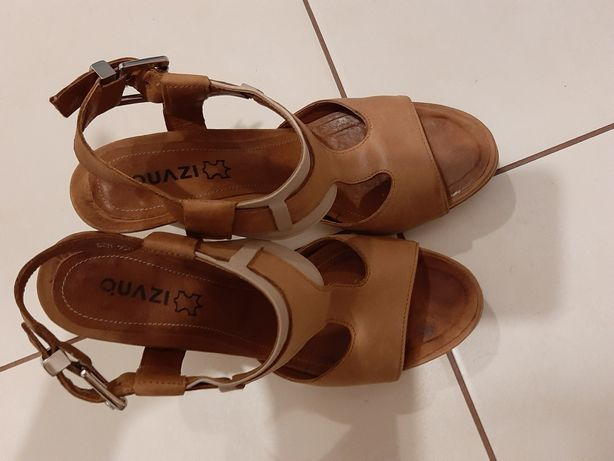 Sandały Quazi 38 skóra brąz