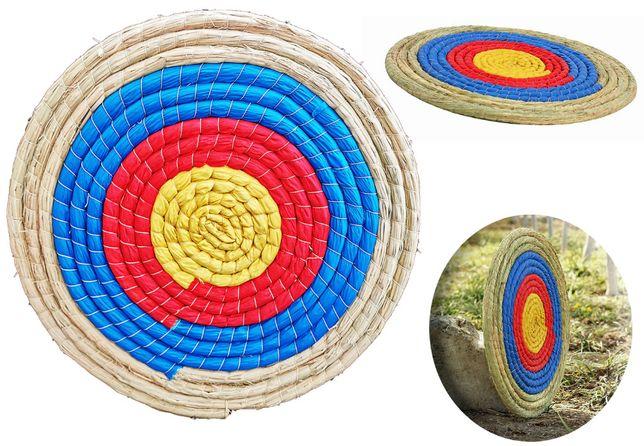 Mata słomiana tarcza łucznicza kolorowa 50x2cm