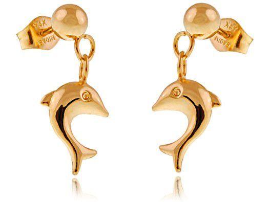 Kolczyki złote Delfinki