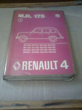manual renault 4 - 5 - 9 - 11 - 12 - 18 para colecionadores