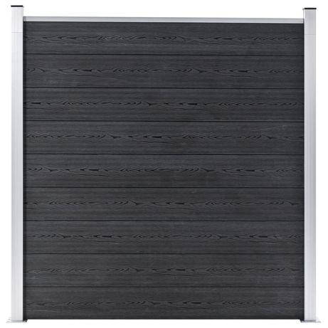vidaXL Painel de vedação para jardim WPC 180x186 cm cinzento 49067