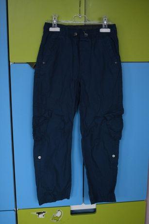 spodnie bojówki w góry H&M rozmiar 128 granatowe