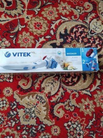 Массажер Vitek для тела ручной с насадками и инфракрасным прогревом