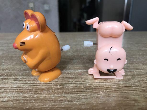 Заводные игрушки - мышка и малыш
