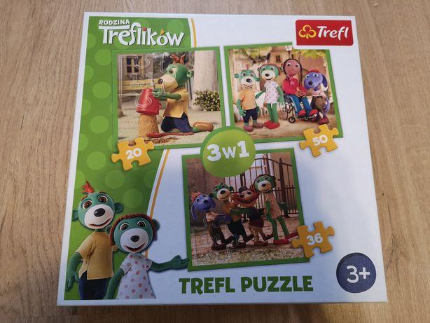 Puzzle Rodzina Treflików 3w1