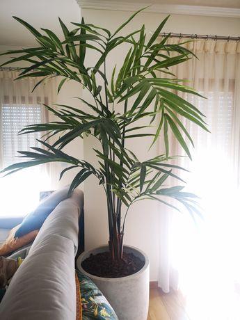 Palmeira Areca artificial de Luxo + Vaso em pedra
