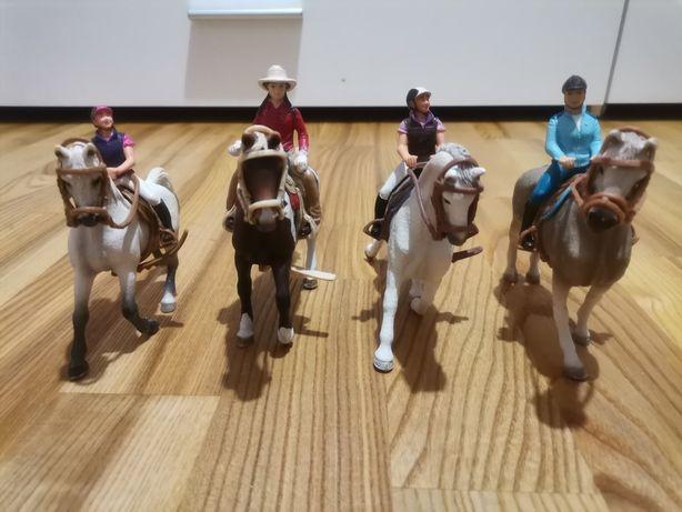 Konie schleich jeźdźcy konie siodła ogłowia